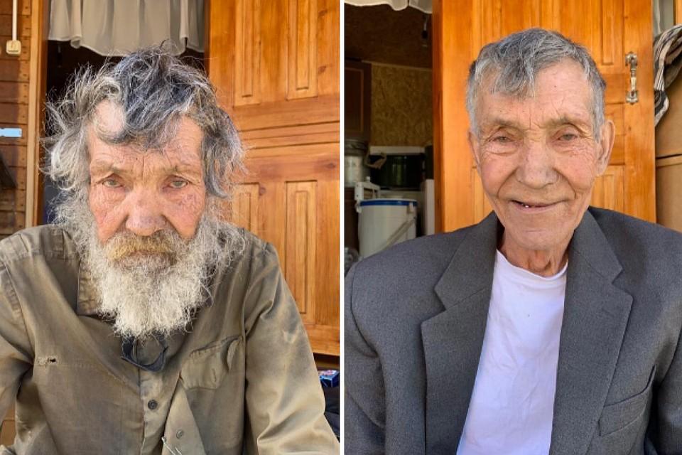«До и после». Алтайский блогер привёл в свой дом и преобразил одинокого старика